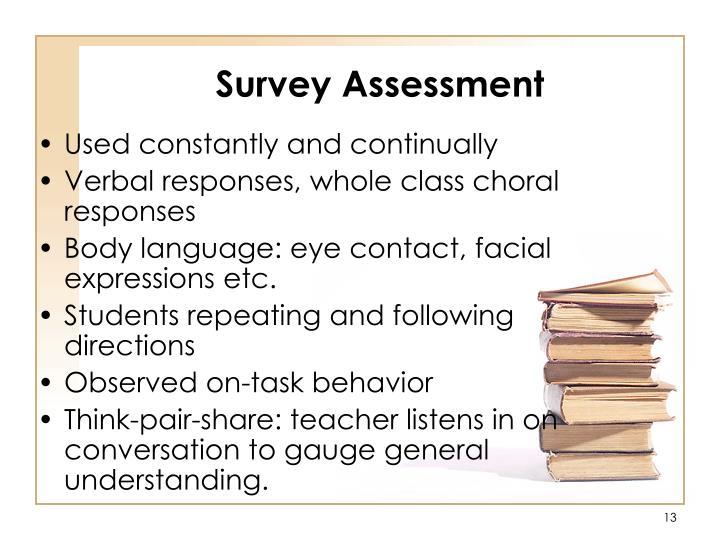 Survey Assessment
