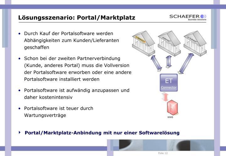 Portal/Marktplatz-Anbindung mit nur einer Softwarelösung