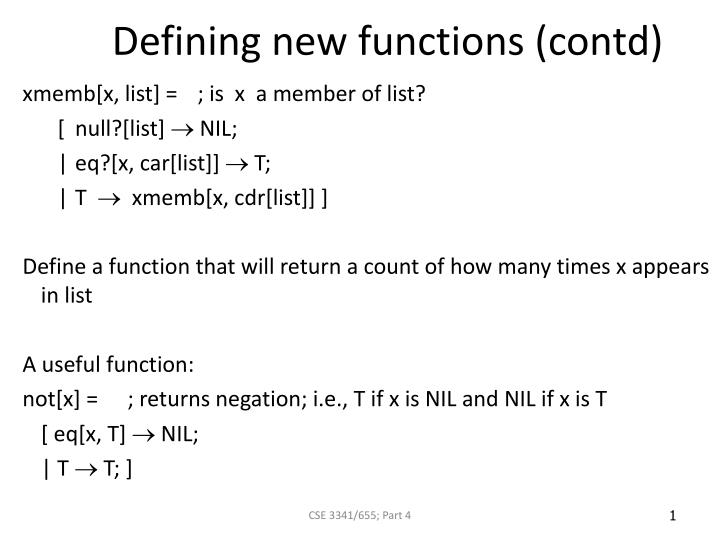 defining new functions contd n.