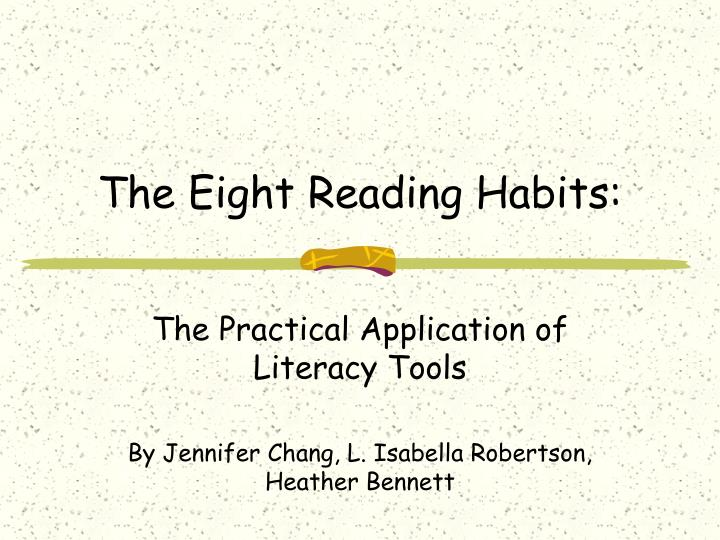 The eight reading habits