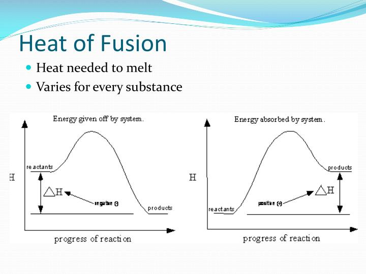 heat of fusion lab Heat of fusion for ice in this lab exercise, you and a partner will determine the energy heat absorbed by melting ice: q fusion.