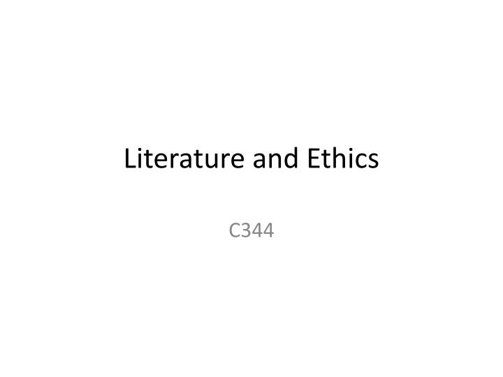 literature and ethics n.