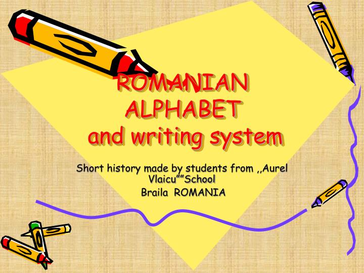 romanian alphabet and writing system n.
