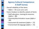 agency cultural competence a staff survey3