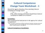 cultural competence change team worksheet 1