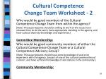 cultural competence change team worksheet 2