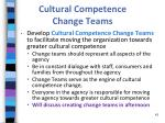 cultural competence change teams