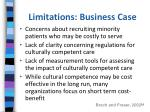 limitations business case