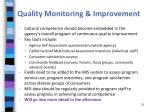 quality monitoring improvement