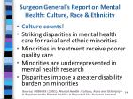 surgeon general s report on mental health culture race ethnicity