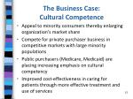 the business case cultural competence