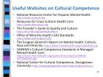 useful websites on cultural competence
