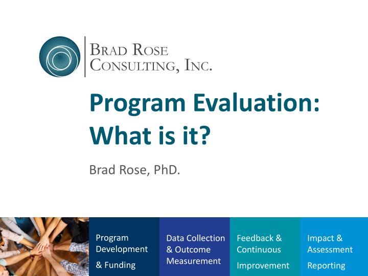 program evaluation what is i t n.