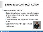 bringing a contract action1