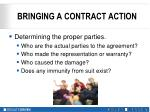 bringing a contract action4