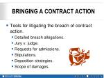 bringing a contract action7