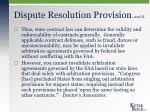 dispute resolution provision cont d2