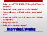 improving listening