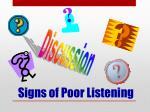 signs of poor listening