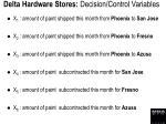 delta hardware stores decision control variables