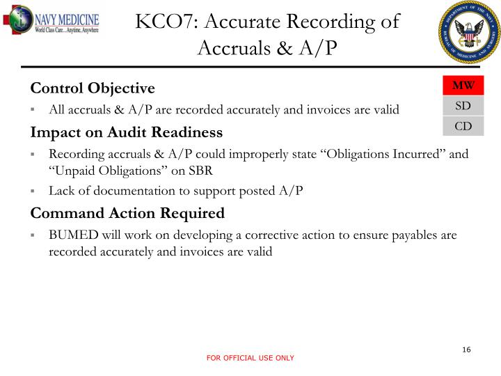 KCO7: Accurate Recording of Accruals & A/P