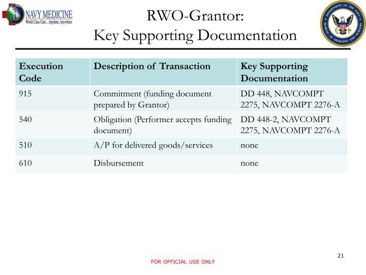 RWO-Grantor: