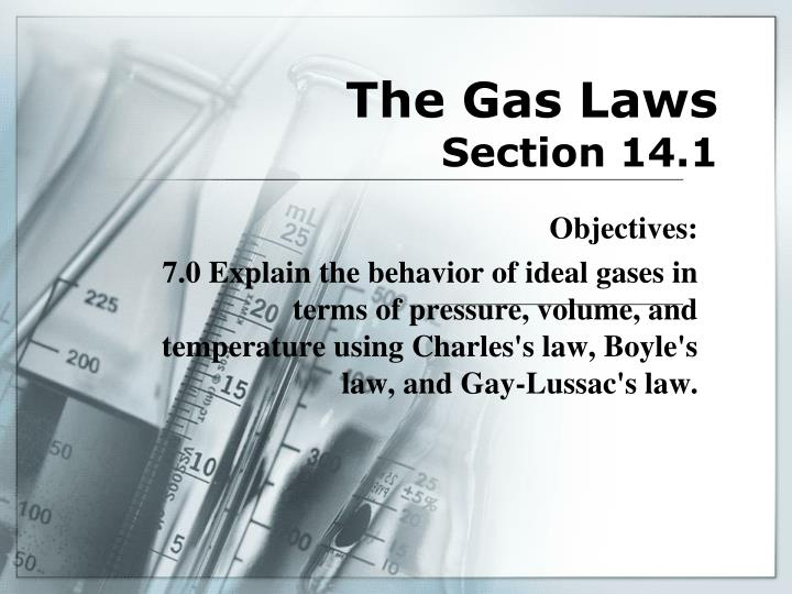 the gas laws section 14 1 n.