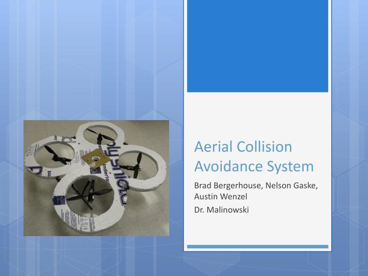 aerial collision avoidance system n.