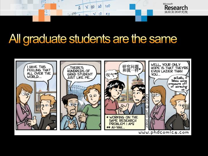 All graduate students are the same