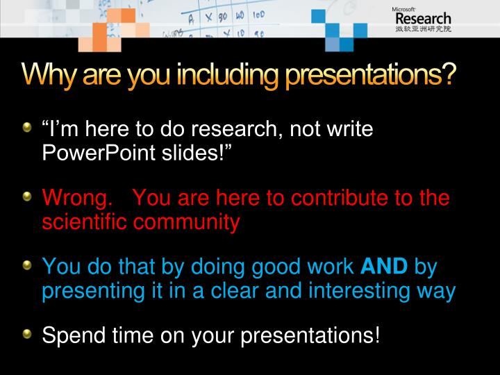 Why are you including presentations?
