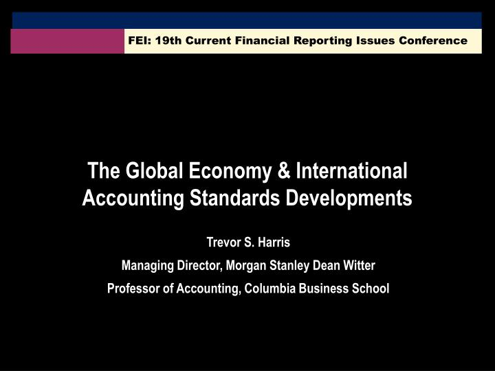fei 19th current financial reporting issues conference n.