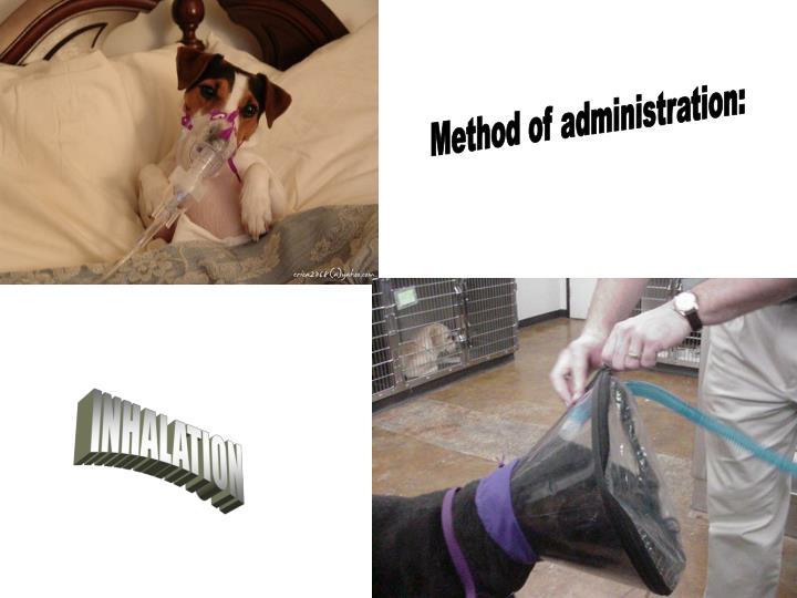 Method of administration: