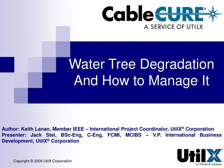 water tree degradation and how to manage it n.