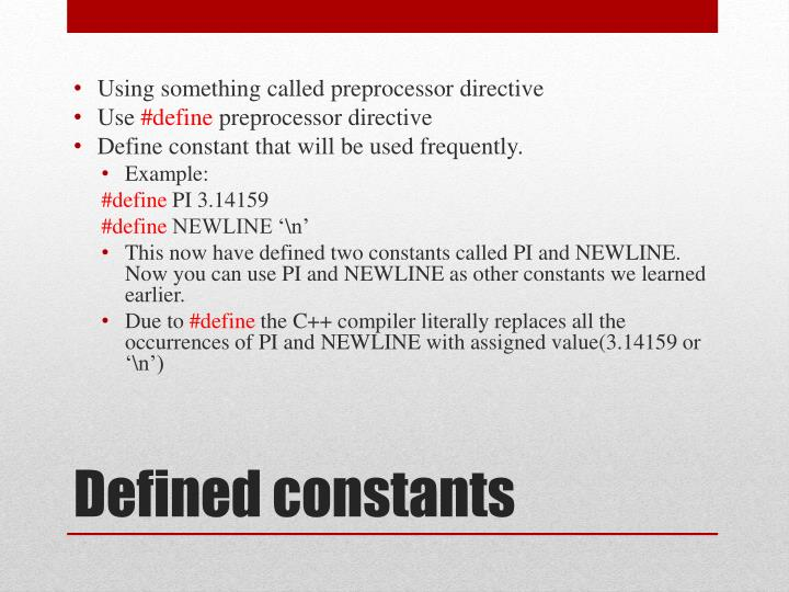 Using something called preprocessor directive