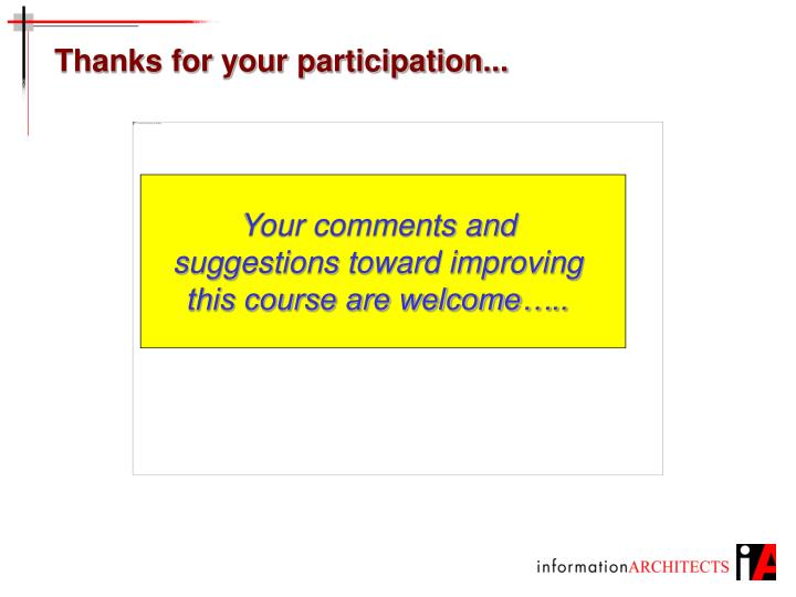 Thanks for your participation...
