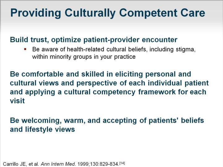 Providing Culturally Competent Care