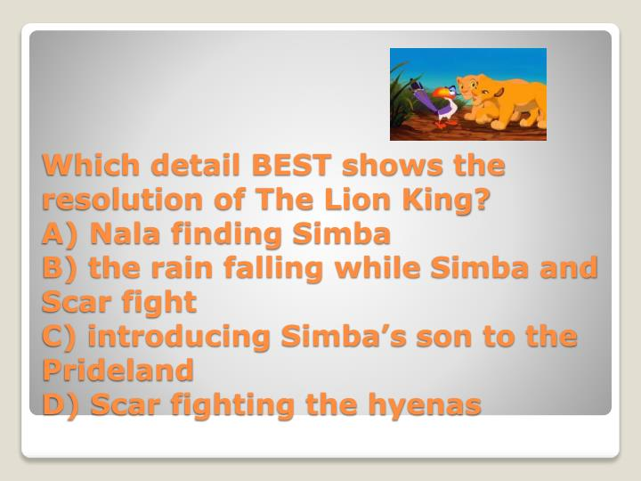 Which detail BEST shows the resolution of The Lion King?