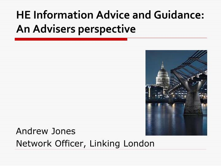 he information advice and guidance an advisers perspective n.