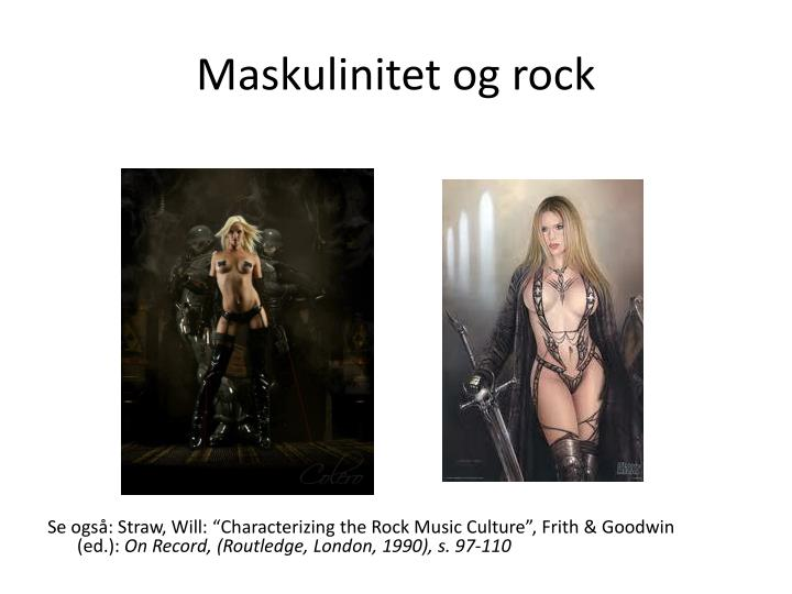 Maskulinitet og rock