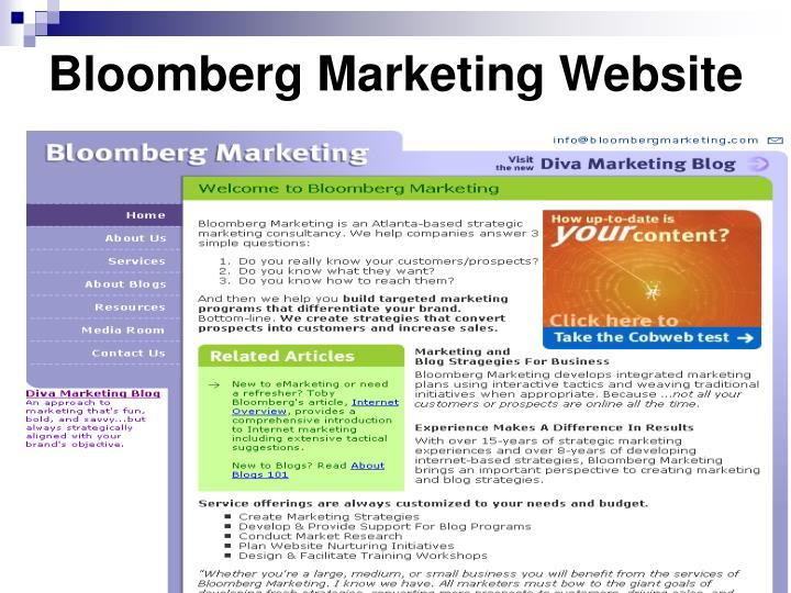 Bloomberg marketing website