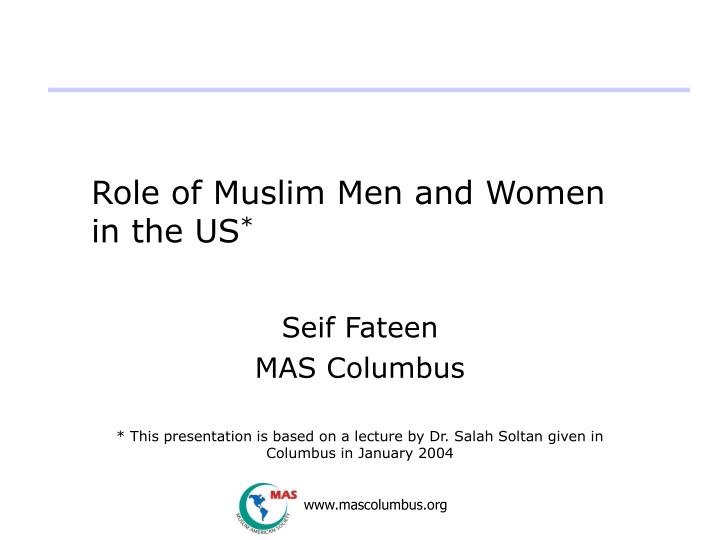 role of muslim men and women in the us n.