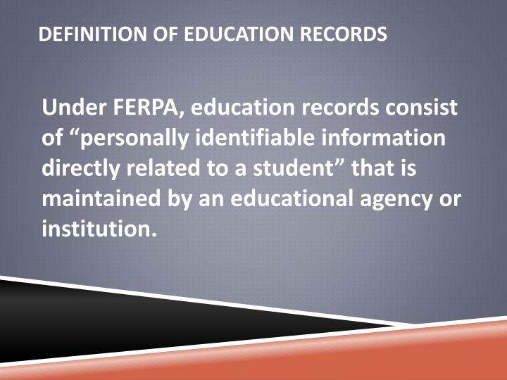 Definition of Education Records