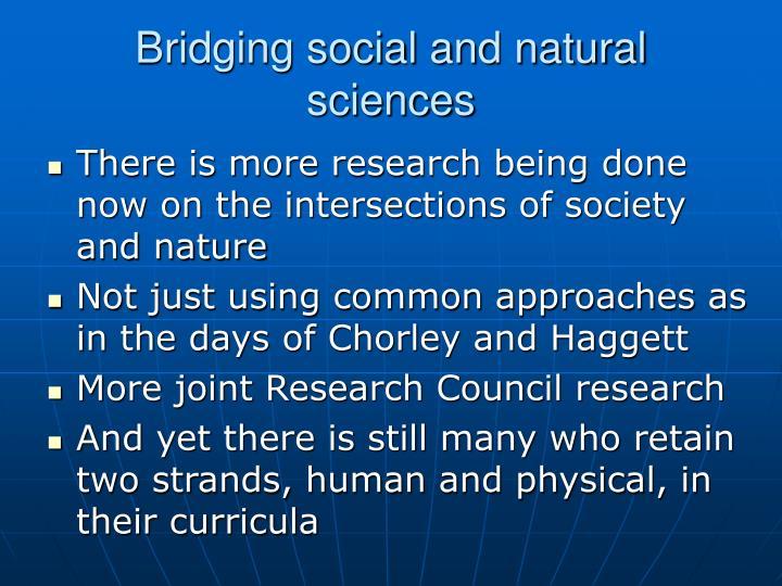 Bridging social and natural sciences