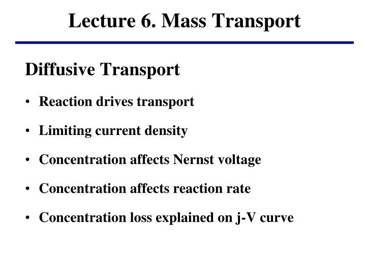 lecture 6 mass transport n.