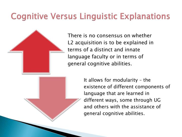 Cognitive Versus Linguistic Explanations