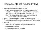 components not funded by emi2