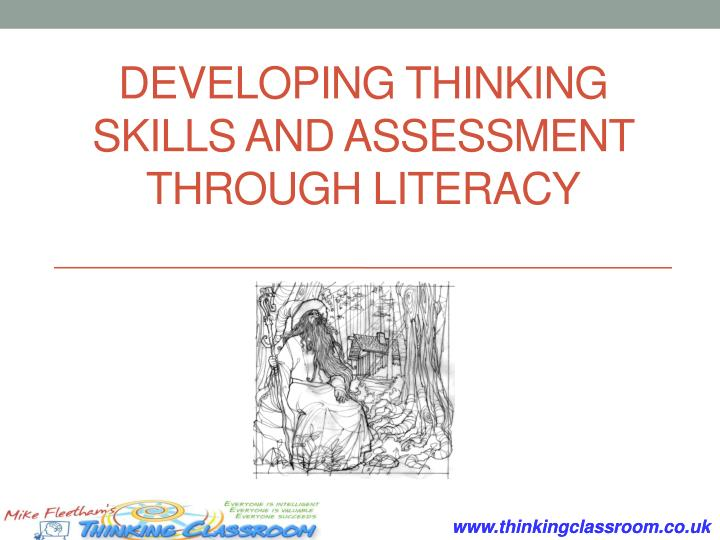 developing thinking skills and assessment through literacy n.