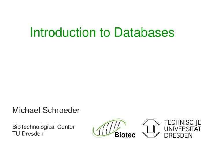 introduction to databases n.
