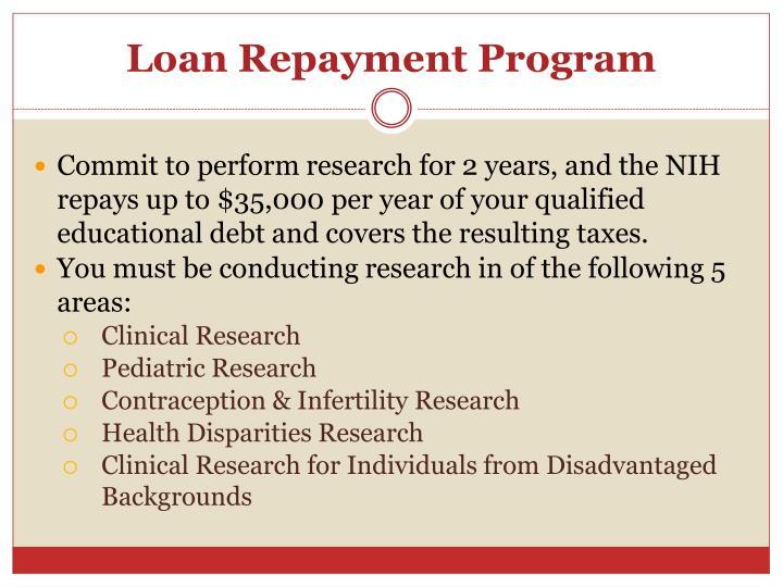Loan Repayment Program