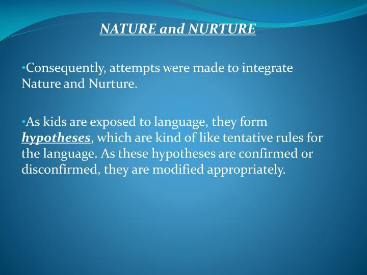 child language acquisition nature or nurture